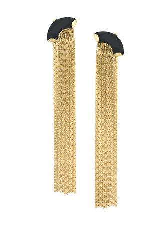 Wouters & Hendrix My Favourite Onyx And Chain Earrings Ss20 | Farfetch.com