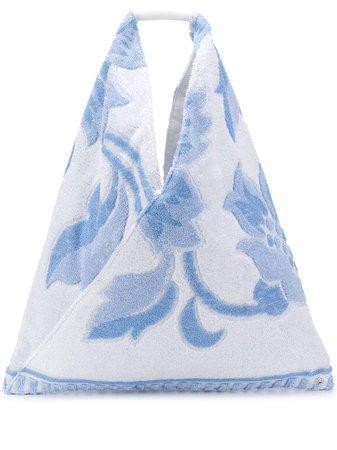 Mm6 Maison Margiela Japanese Floral Motif Tote Bag S54WD0039P3239 Blue | Farfetch