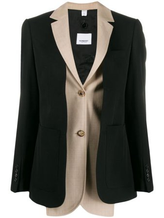 Burberry Layered Effect Blazer 4562620 Black | Farfetch