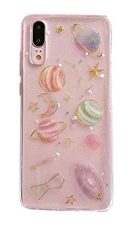 3C Collection Huawei Honor 10 Lite Case Galaxy, Space Nebula Planets Stars Pattern Clear Soft Slim TPU Cover for Huawei Honor 10 Lite Aesthetic ...