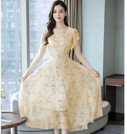 lemon summer dress