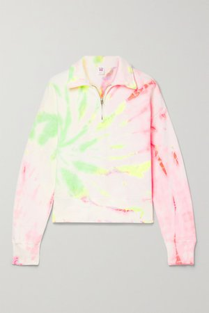 Hanes 70s Tie-dyed Cotton-jersey Sweatshirt - Cream