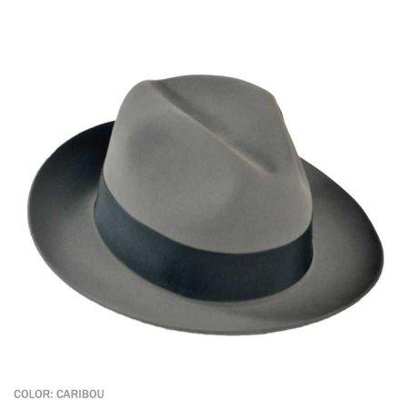Grey men's fedora