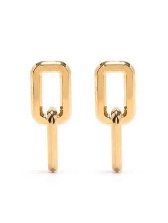 Off-White Allen chain earrings gold OWOD047R21MET0017600 - Farfetch