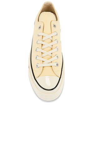 Converse Chuck 70 Seasonal Color Recycled Canvas Sneaker in Banana Cake & Egret | REVOLVE