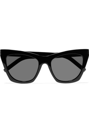 Saint Laurent | Kate cat-eye acetate sunglasses | NET-A-PORTER.COM