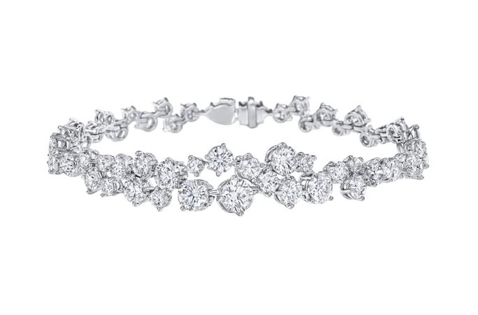 Sparkling Cluster by Harry Winston, Diamond Bracelet