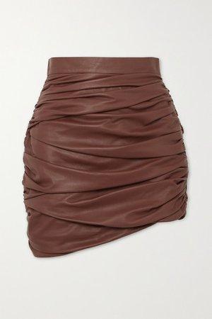 Zeynep Arcay   Ruched leather mini skirt   NET-A-PORTER.COM