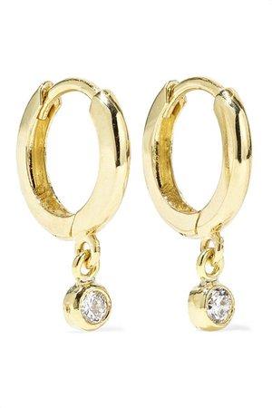 Jennifer Meyer | Huggies 18-karat gold diamond earrings | NET-A-PORTER.COM
