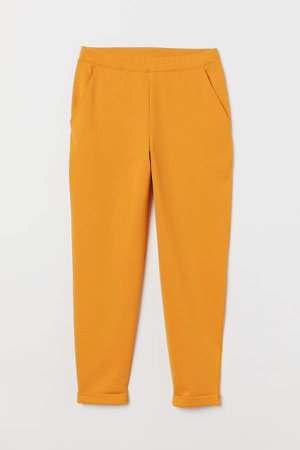 Ankle-length Pull-on Pants - Yellow