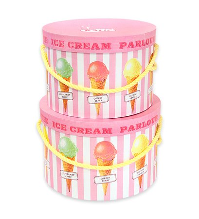 HAT BOX round ICE CREAM Katie Official Web Store