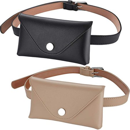 Amazon.com: Tatuo 2 Pieces Women's Leather Belt Fanny Pack with Removable Belt Fashion Waist Pouch Belt Bags (Color Set 3): Gateway