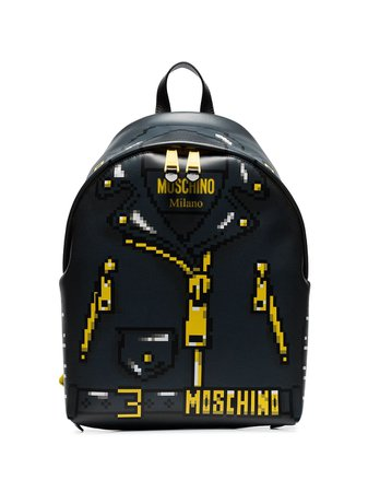 Moschino Pixelated jacket print backpack $1,295 - Buy Online - Mobile Friendly, Fast Delivery, Price