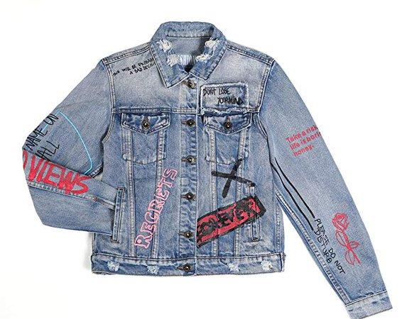 Dolcevida Women's Fashion Long Sleeves Denim Jacket Button Down Jean Coats (S) at Amazon Women's Coats Shop