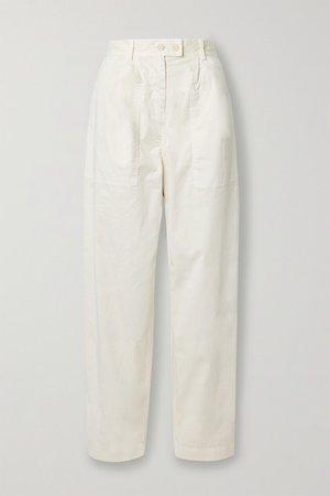 Nili Lotan | Cyro stretch-cotton tapered pants | NET-A-PORTER.COM