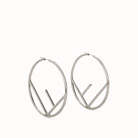 Silver-coloured earrings - F IS FENDI EARRINGS | Fendi