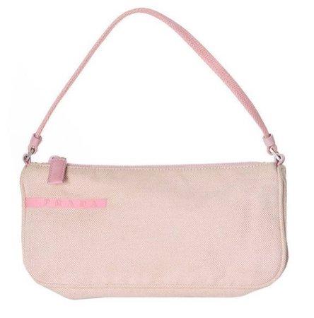 Mini pink Prada bag