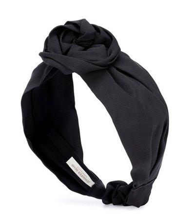 Rosemarie silk faille headband