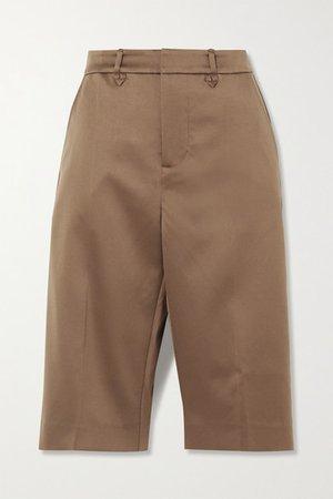 Mind Satin Shorts - Camel