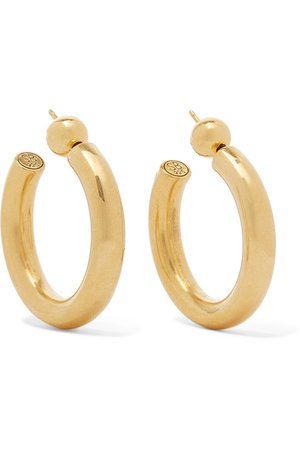 SOPHIE BUHAI Everyday gold vermeil hoop earrings