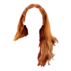 red/auburn hair png clips