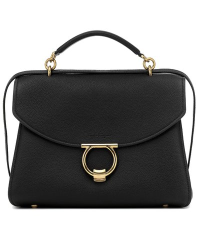 Salvatore Ferragamo, Margot Large Leather Shoulder Bag