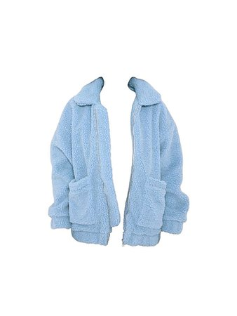 Light Blue Fuzzy Teddy Jacket