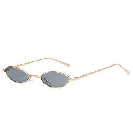 Vintage Micro Metal Oval Frame Sunglasses – LoomRack