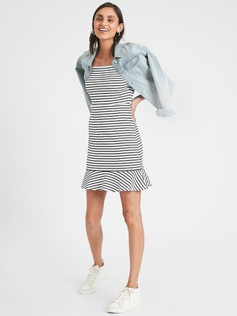 Knit Striped Sheath Dress | Banana Republic Factory