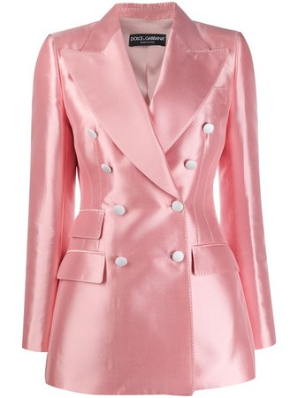 Shop Dolce & Gabbana double-breasted shantung blazer with Express Delivery - FARFETCH