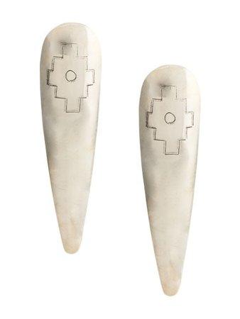 Silver VOZ Cruz Earrings - Farfetch