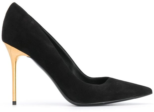 Pointed-Toe Suede Pumps