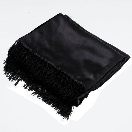 gucci black silk scarf