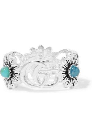 Gucci | Marmont silver multi-stone ring | NET-A-PORTER.COM