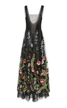 Rodarte Embroidered Floral Tulle Dress