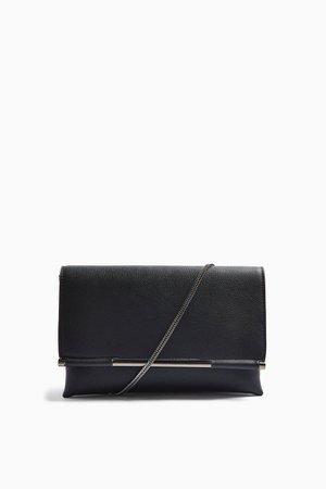 CARA Black Bar Clutch Bag   Topshop