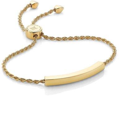 Engravable Linear Friendship Chain Bracelet