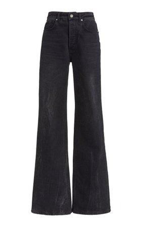 Rigid High-Rise Flared Leg Jeans By Paco Rabanne   Moda Operandi