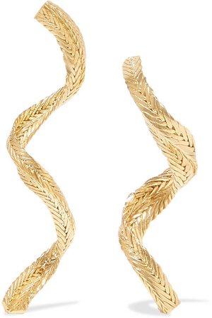 STVDIO | Rose gold-tone earrings | NET-A-PORTER.COM