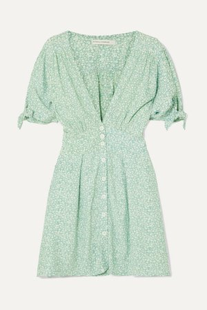 Faithfull The Brand | Marianne floral-print crepe de chine mini dress | NET-A-PORTER.COM