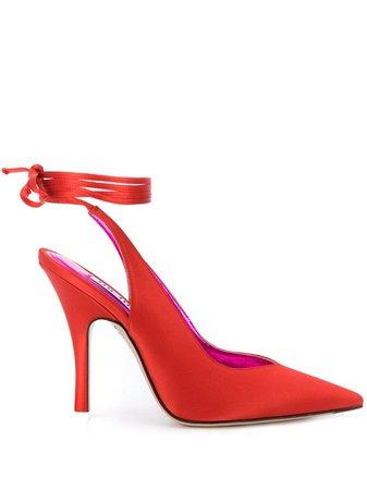 Attico Tie Ankle Pumps - Farfetch