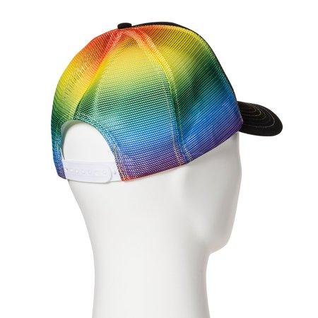 Pride Adult Rainbow Trucker Baseball Hat - Black : Target