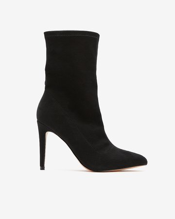 Pointed Toe Sock Booties | Express