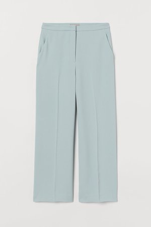 Ankle-length Suit Pants - Turquoise