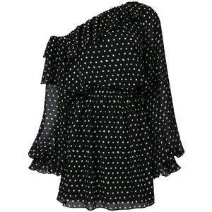 Saint Laurent polka-dot one shoulder dress 2,688 €