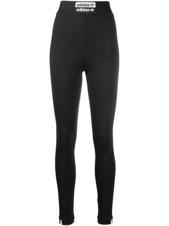 Adidas Legging Slim Com Patch De Logo - Farfetch