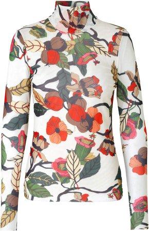 Baum und Pferdgarten Jodi Floral-Print Jersey Turtleneck Top