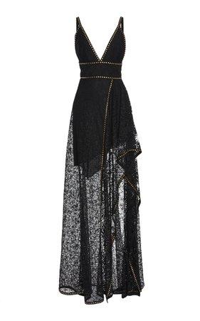 Sleeveless Lace Maxi Dress by Elie Saab   Moda Operandi