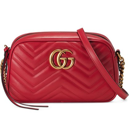 Gucci Small GG 2.0 Matelassé Leather Camera Bag | Nordstrom
