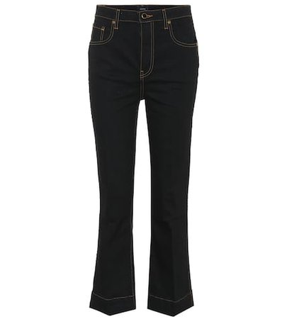 The Fiona cropped flared jeans